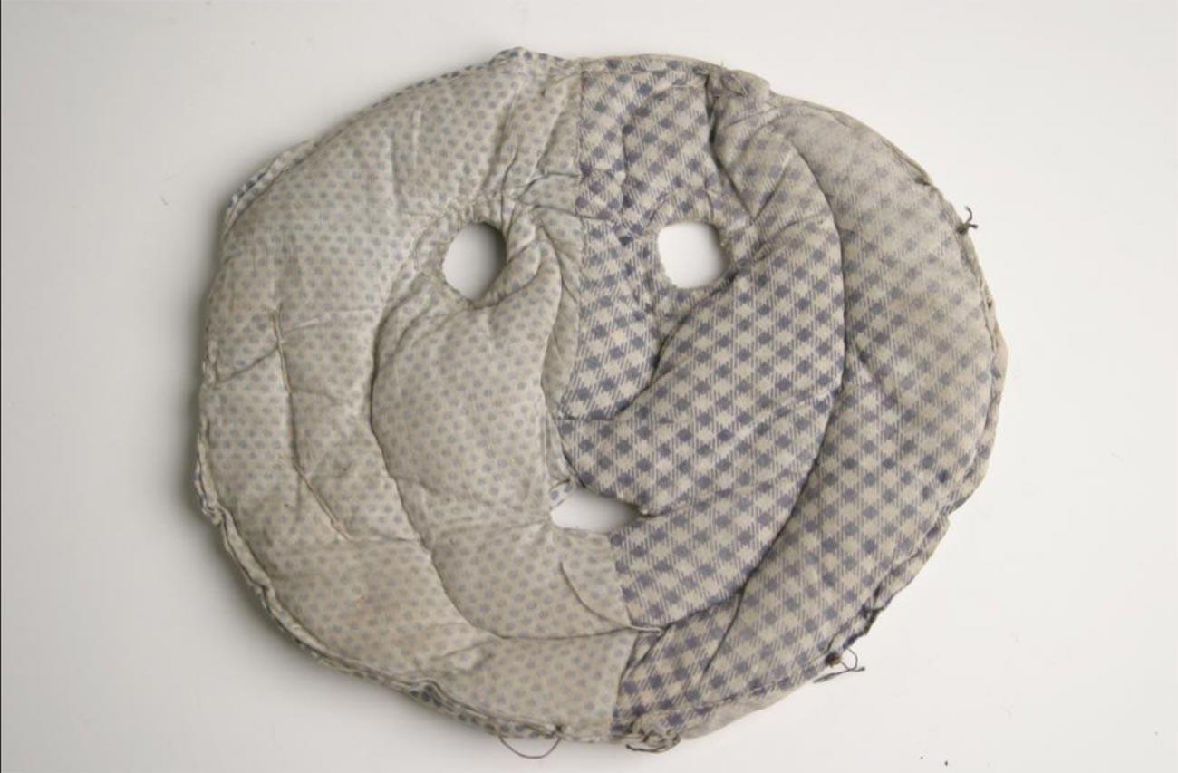 Маска за защита от студ. Плат, памучна вата. Проект No 501. 1949-1954