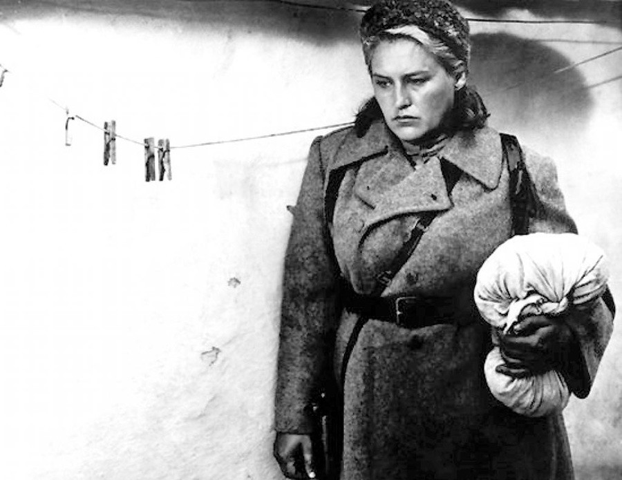 Nonna Mordyukova in 'The Commissar', based on Vasily Grossman's short novel.
