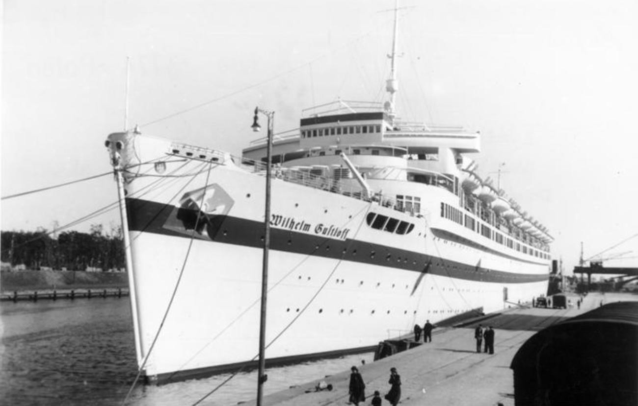 Le navire allemand Wilhelm Gustlof