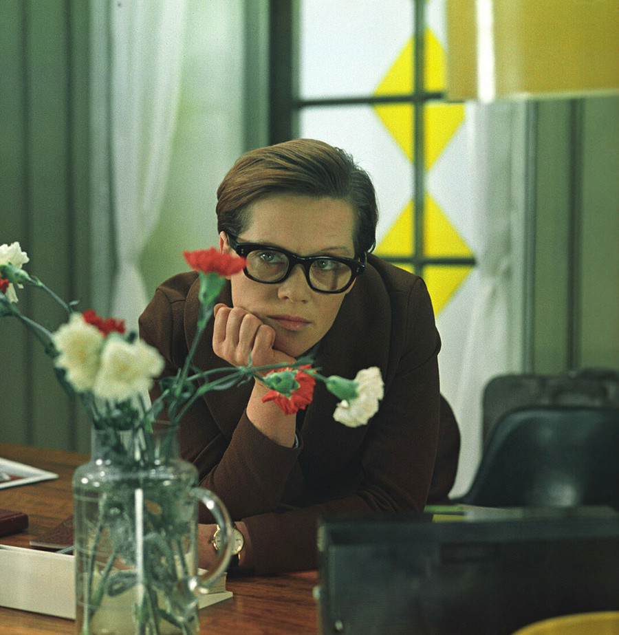 Freindlich as Ludmila Kalugina in hit Soviet comedy 'Office Romance'.