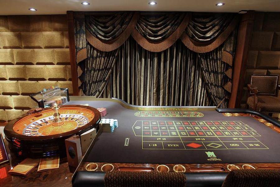 A hall for VIP guests in the Metropol casino.