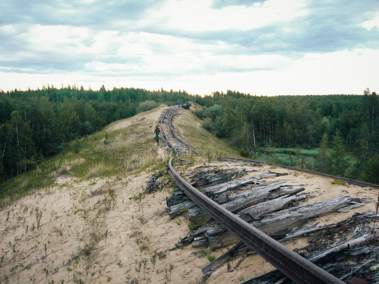 Trechos que restaram da Transpolar, Salekhard-Nadim, 2004