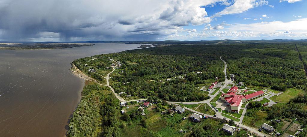 Il villaggio di Sikachi-Alyan, nel Kraj di Khabarovsk