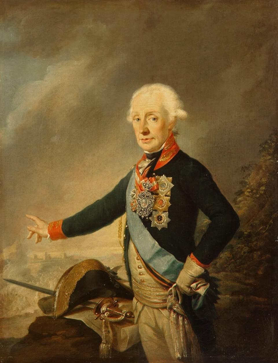 Jozef Krajcinger: Portret grofa Aleksandra Suvorova.
