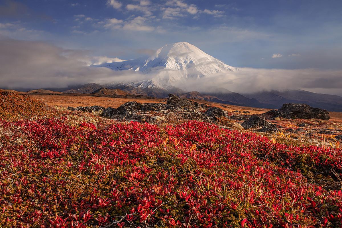 カムチャツカ地方、トルバチク火山