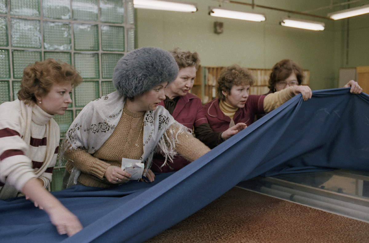 At the Rostokino fabric in Moscow, 1987.