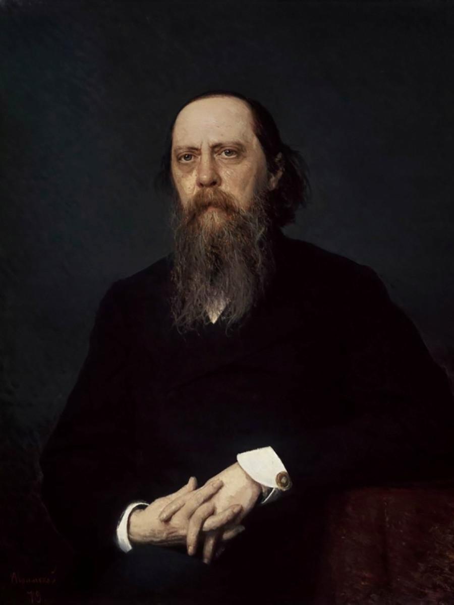 Ritratto di Mikhail Saltykov-Shchedrin realizzato da Ivan Kramskoj
