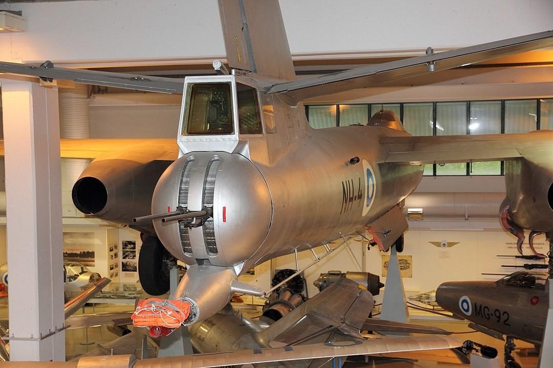 Armas traseiras de IL-28R (NH-4) no Museu Central da Aviação da Finlândia 2012