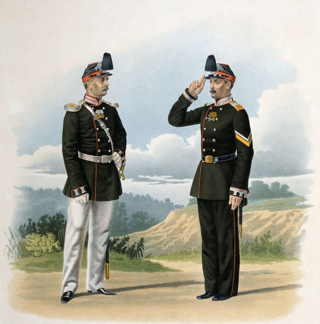 Officers of the 13th Yerevan Grenadier Regiment of the Russian Imperial Army