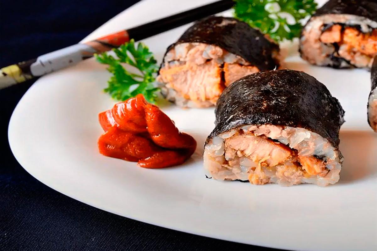 Sushi mit Buchweizen