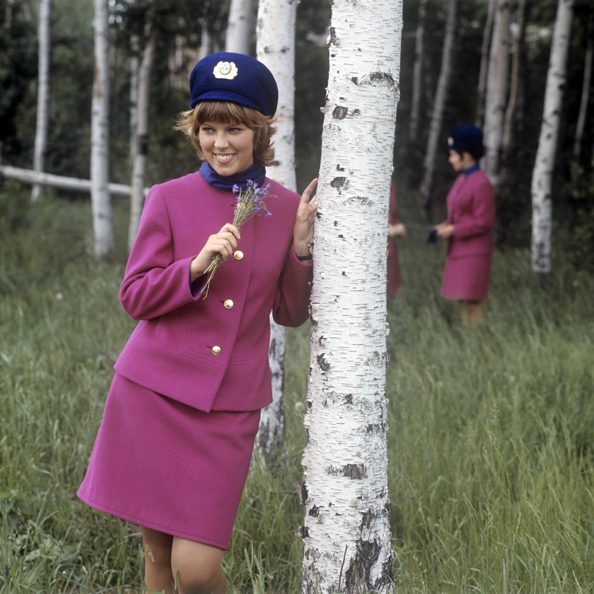 Auxiliar de vuelo Nadezhda Tkach.