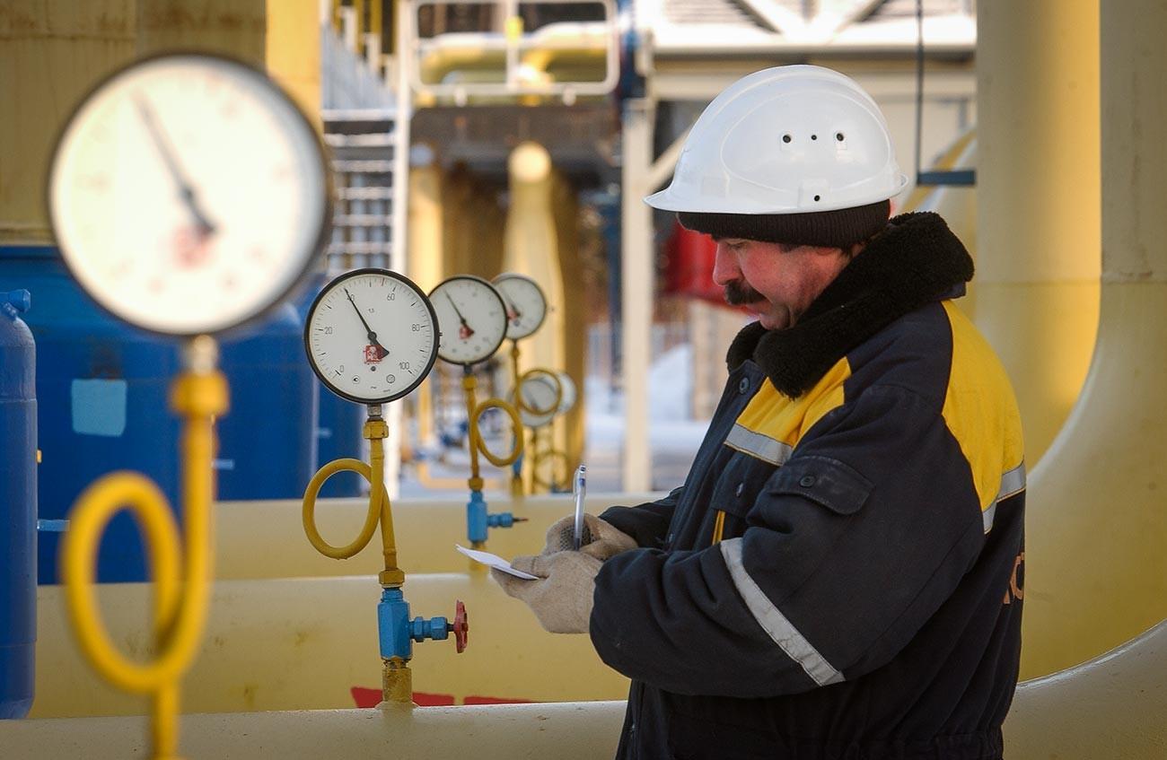 Stazione per il trasferimento del gas a Belousovo, nell'Oblast di Kaluga