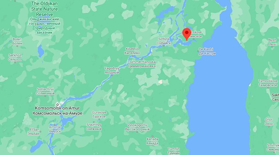 Насеље Бољшие Саники (Большие Санники), Хабаровски крај.