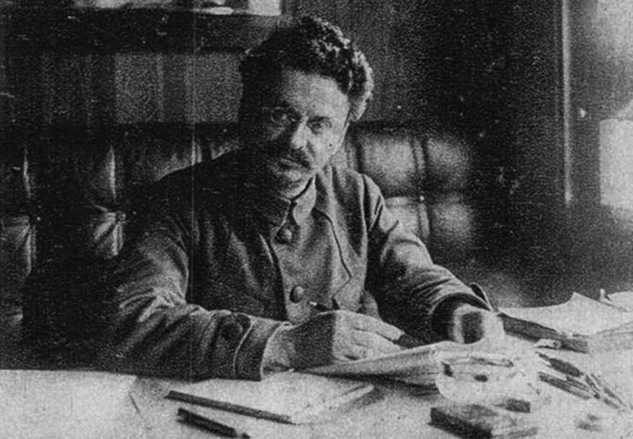 Another leader of the Bolshevik Revolution and Stalin's main competitor, Leon Trotsky, 1921