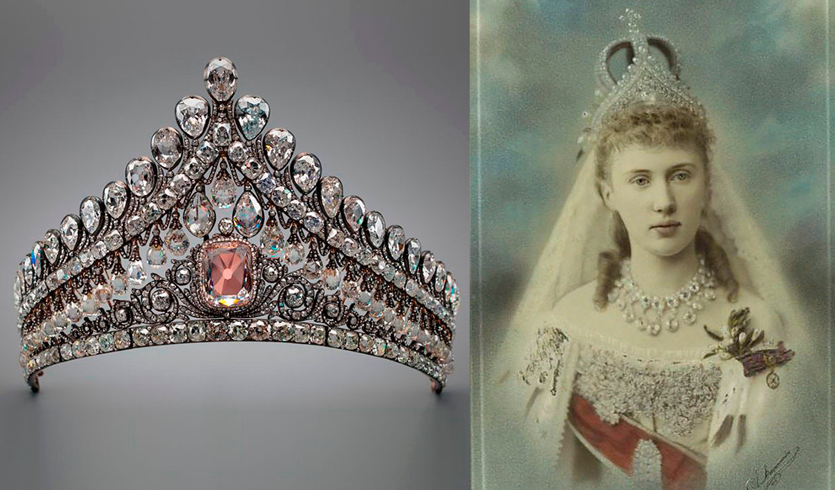 Grand Duchess Elizabeth Mavrikievna in this tiara during her wedding, 1884.