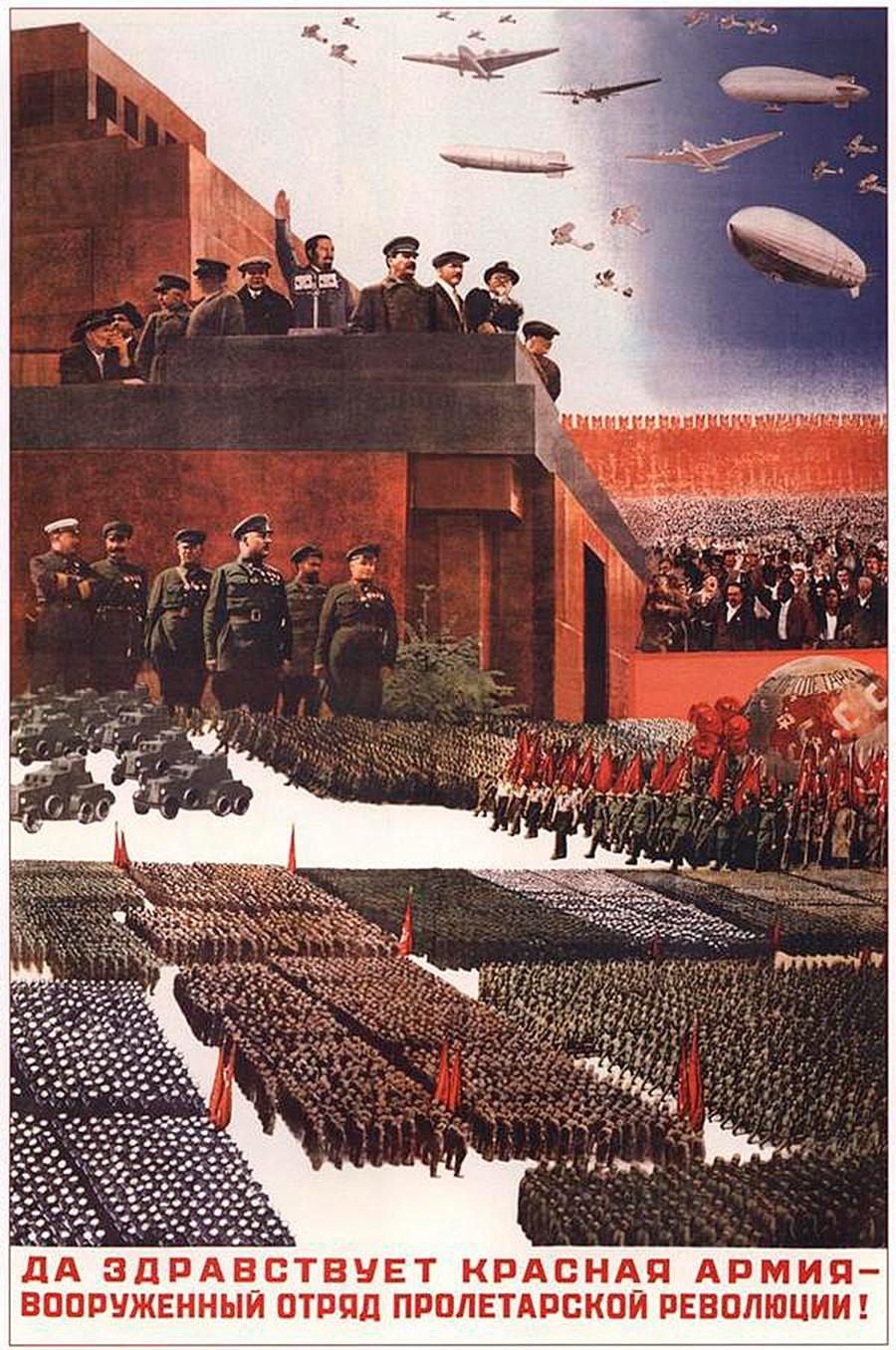 「プロレタリア革命の武装部隊、赤軍万歳!」