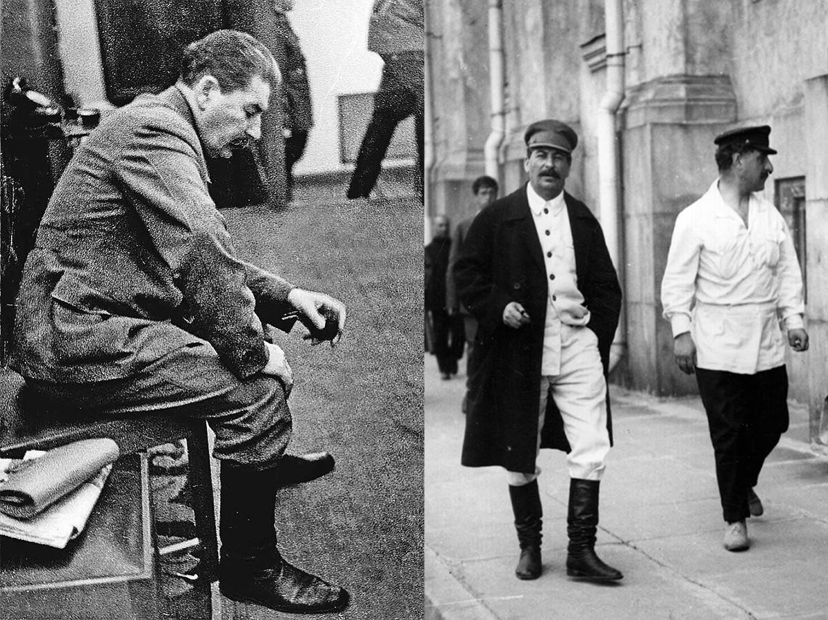 Stalin leta 1924 (levo) in skupaj s komisarjem za gospodarstvo Sergom Ordžonikidzejem (desno)