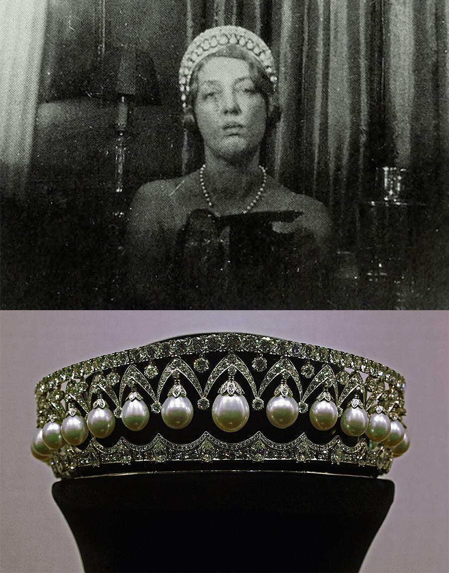"""Војвотката од Марлборо и дијадемата """"Руска убавица""""."""