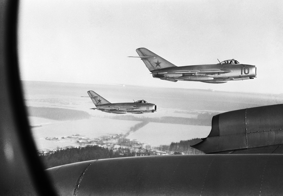 MiG-15 soviéticos sobre Coreia