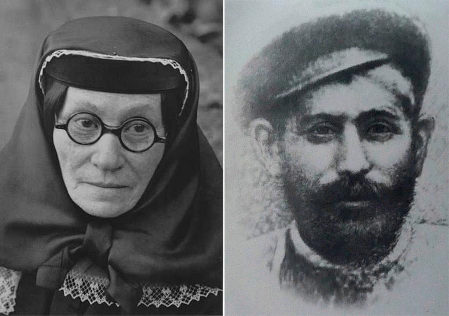 Јекатерина Џугашвили и Висарион Џугашвили (Стаљинов отац).