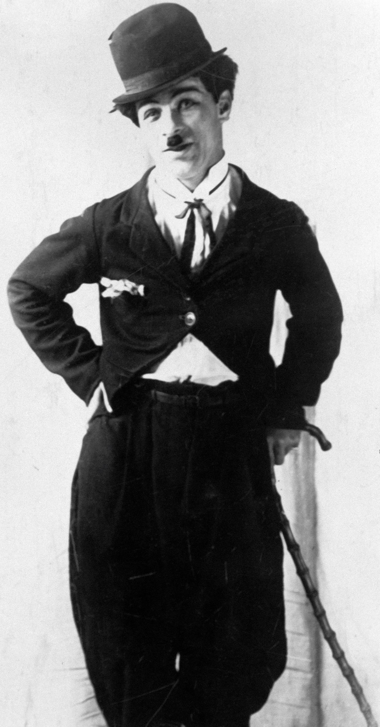 Mikhail Rumyanyntsev was much inspired by Charlie Chaplin's famous character, the Tramp.