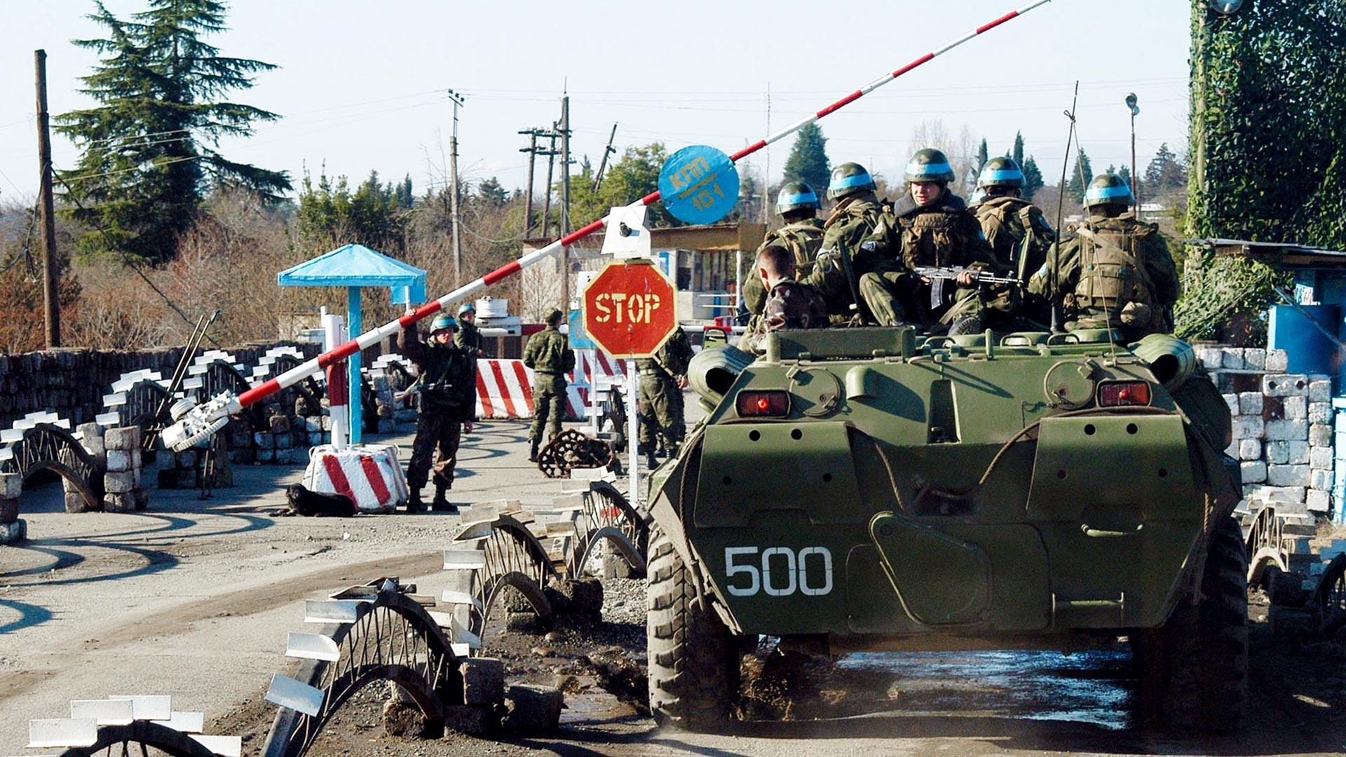 Casques bleus russes en Abkhazie