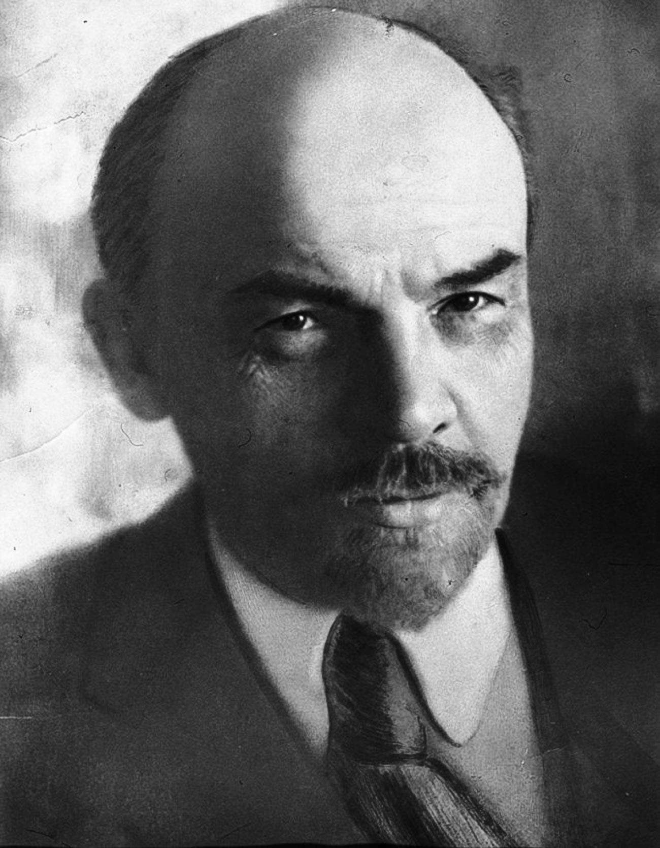 El primer líder soviético, Vladímir Lenin, 1918