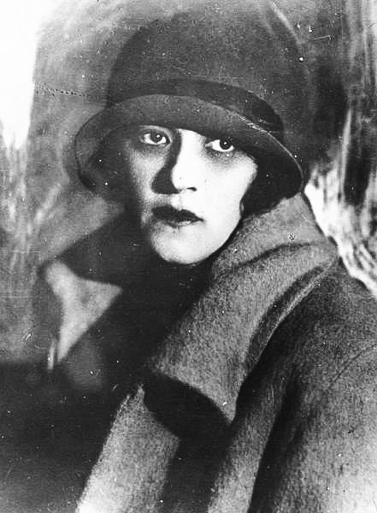 La actriz Faina Ranévskaia, 1928