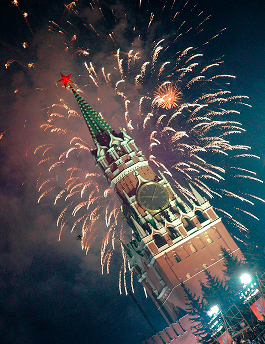 The New Year on the Red Square.