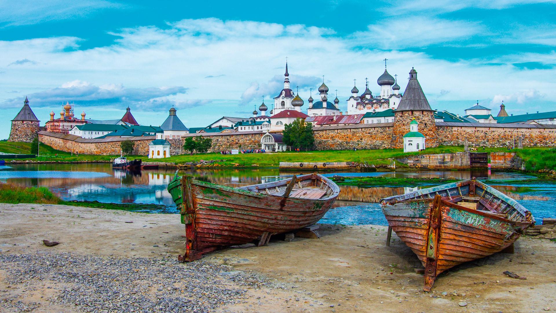 Ilhas Solovétski, na região de Arkhânguelsk.