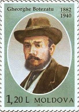 Georgui Bothezat en un sello postal de Moldavia.