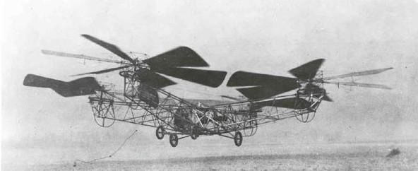 """El """"pulpo volador"""" descendiendo en el Campo McCook después de permanecer en el aire durante dos minutos, 45 segundos."""