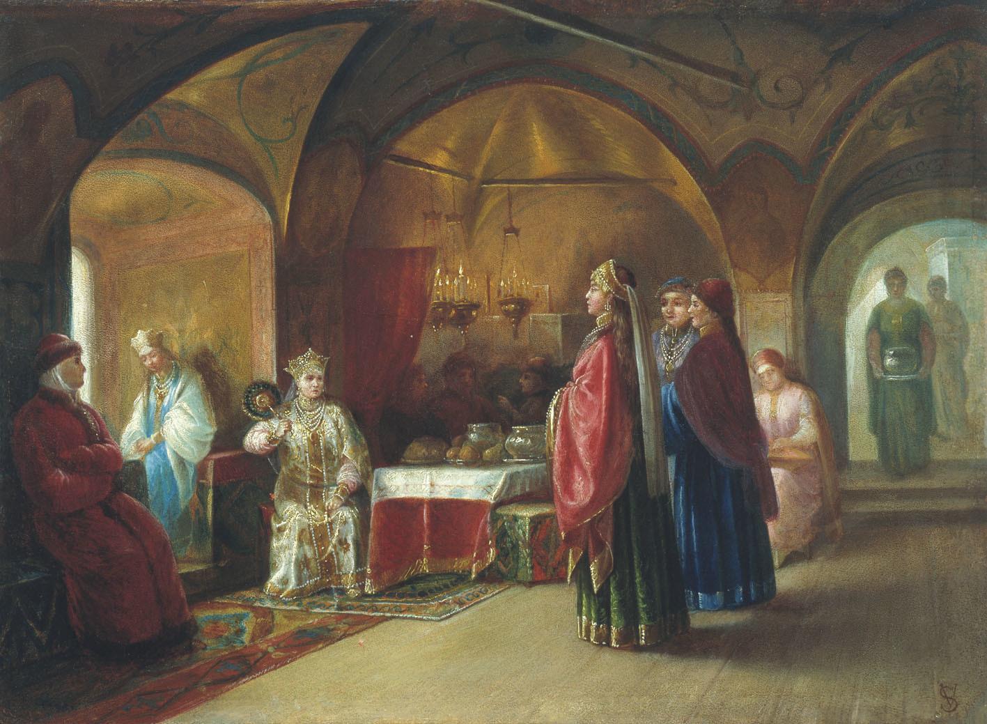 Terem des princesses russes par Mikhaïl Klodt, 1878