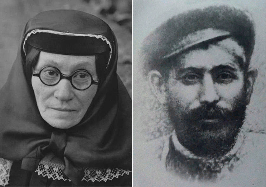 Екатерина Џугашвили и Висарион Џугашвили (таткото на Сталин).