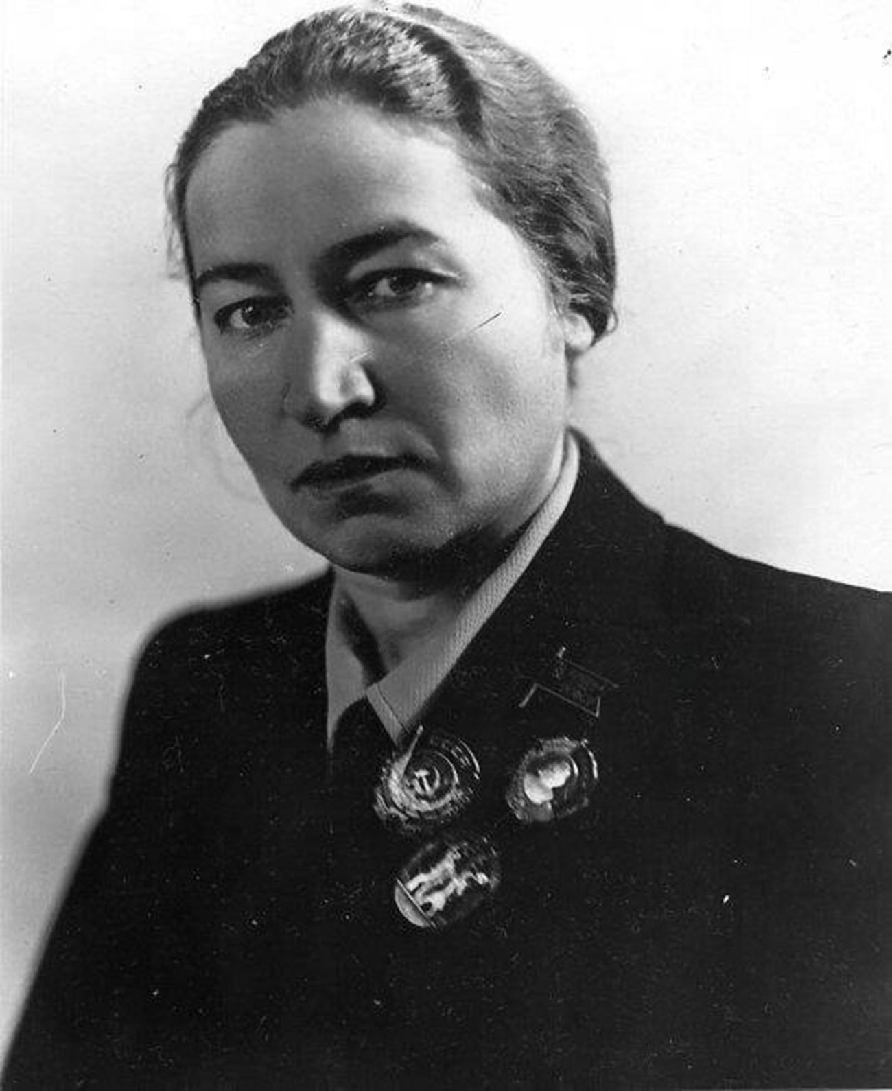 Polina Zhemchuzhina as the Deputy of the Supreme Soviet of the USSR