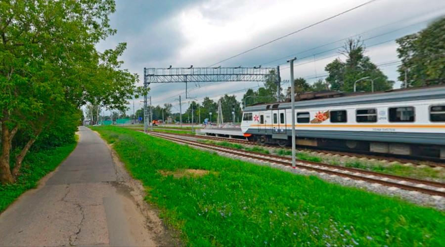 Usovo train station stop