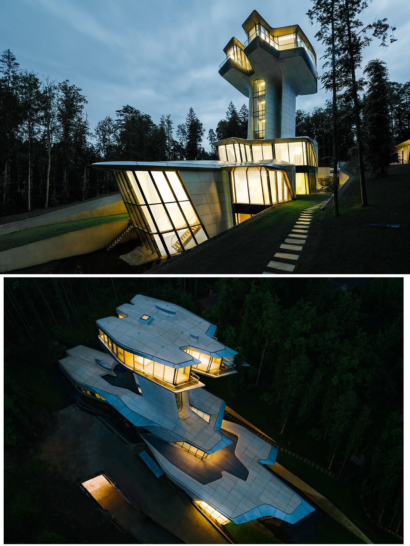 Demeure conçue par le célèbre bureau d'architecte Zaha Hadid