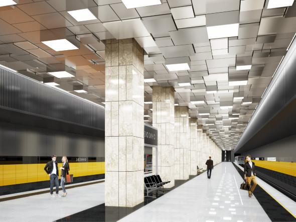 Estação Zyuzino da Linha Bolshaya Koltsevaya (Grande Circular)