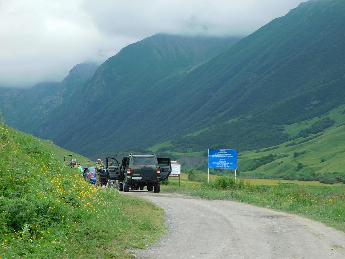 Zona di confine in Ossezia del Nord, nel Caucaso
