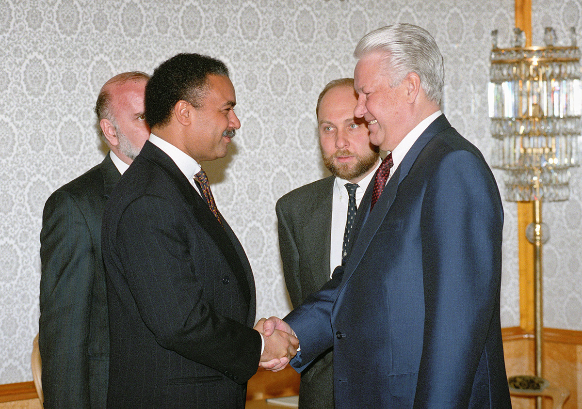 Борис Јељцин, Виктор Прокофјев и Рон Браун, 1994.