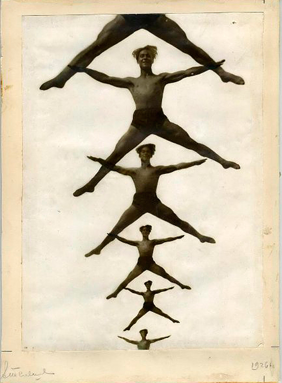 Une affiche représentant des gymnastes masculins, 1926