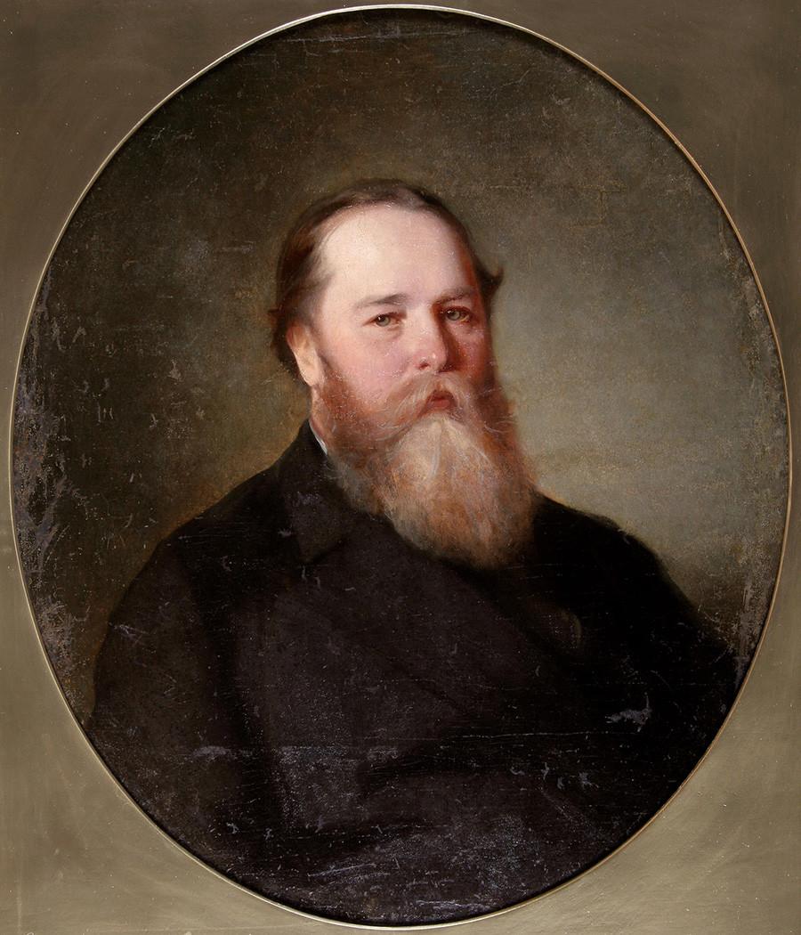 Портрет на П. И. Губонин Автор Макаров Иван Кузмич Дата на създаване 1860 г.