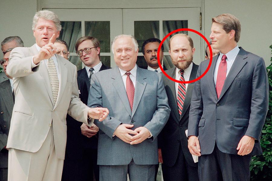 Präsident Bill Clinton mit dem russischen Premierminister Wiktor Tschernomyrdin in Washington