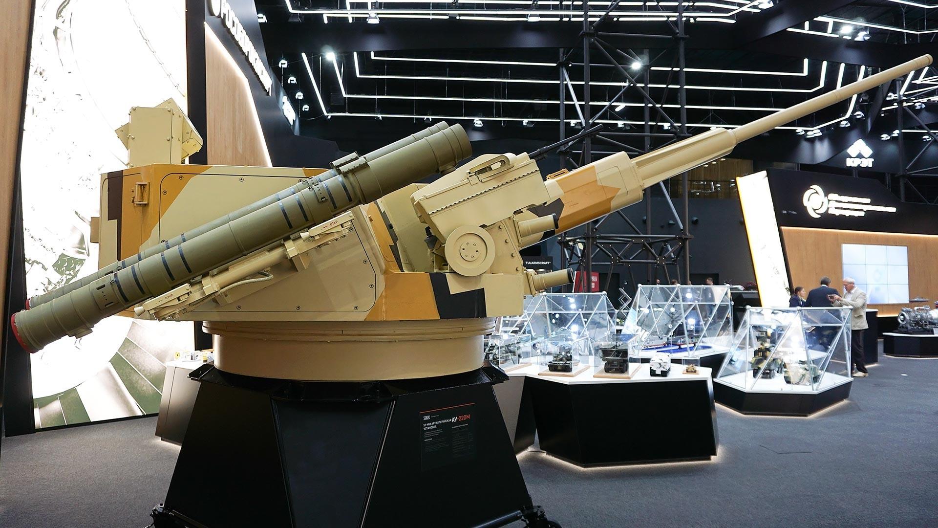 El cañón AU-220M de Derivatsia