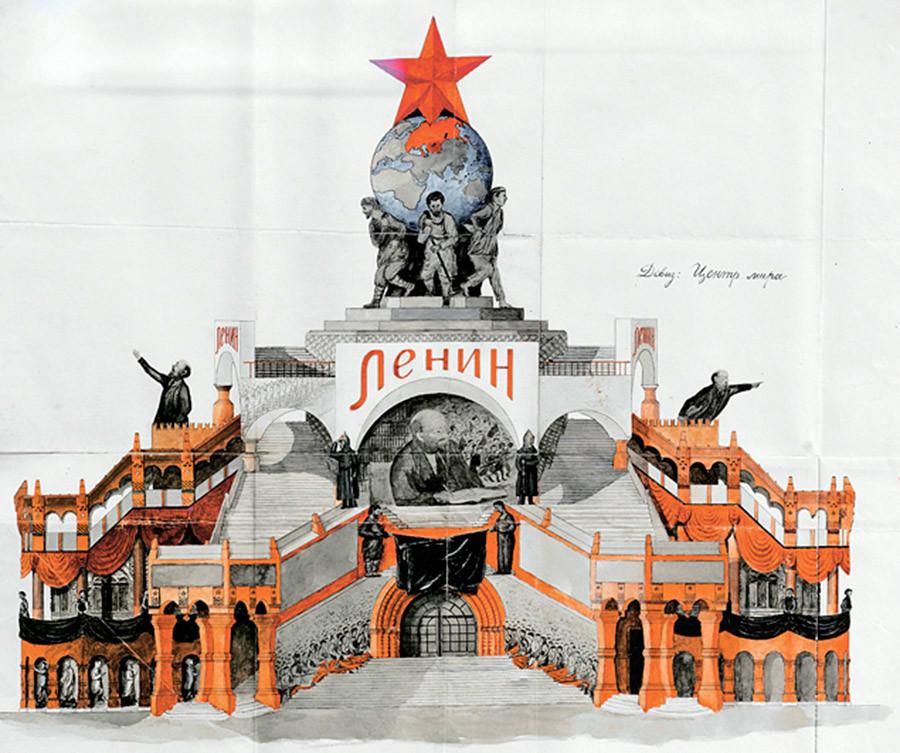 Rancangan Ryabov yang telah diberi warna.