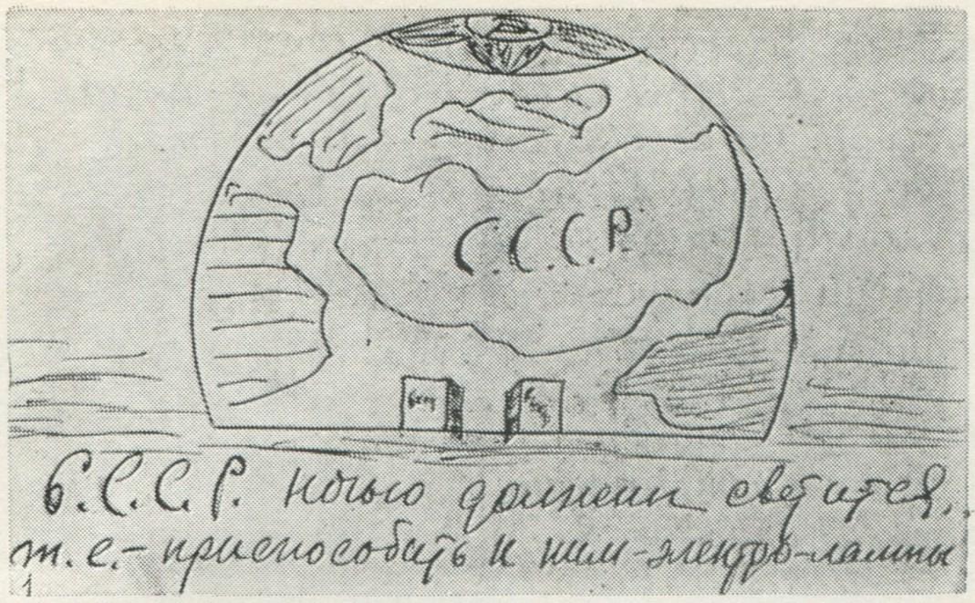 Rancangan S. Fienov yang dilengkapi catatan: