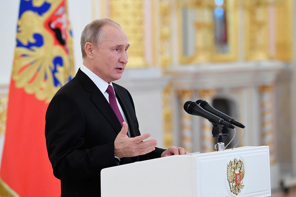 24 ноември 2020 година. Руският президент Владимир Путин