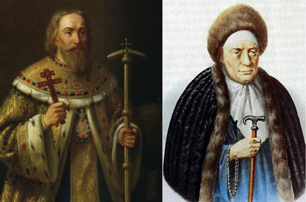 Fiódor Românov (1553-1633) e Ksênia Chestova (morta em 1631), pais do tsar Mikhaíl Fiódorovitch (1596-1645).