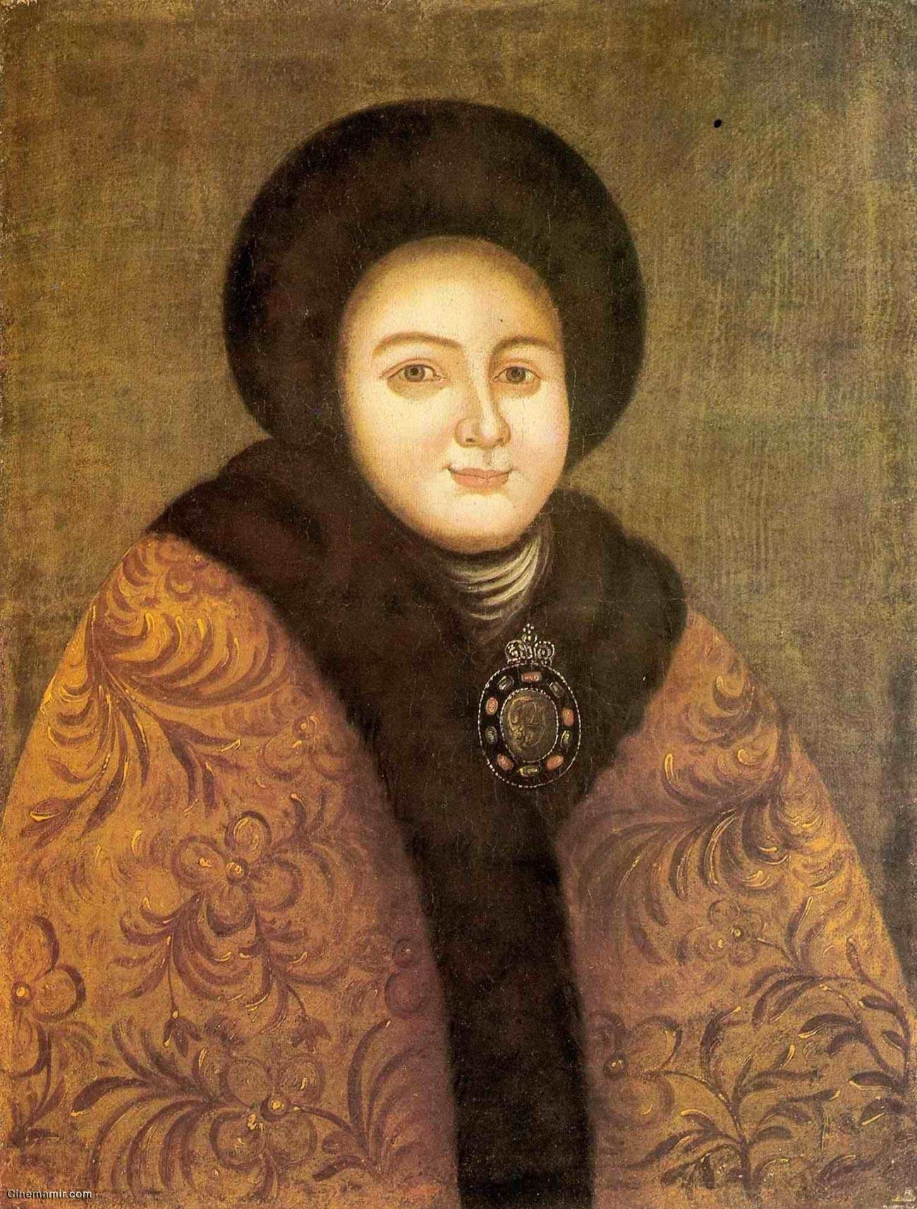 Evdokia Lopukhina em pintura do século 18.