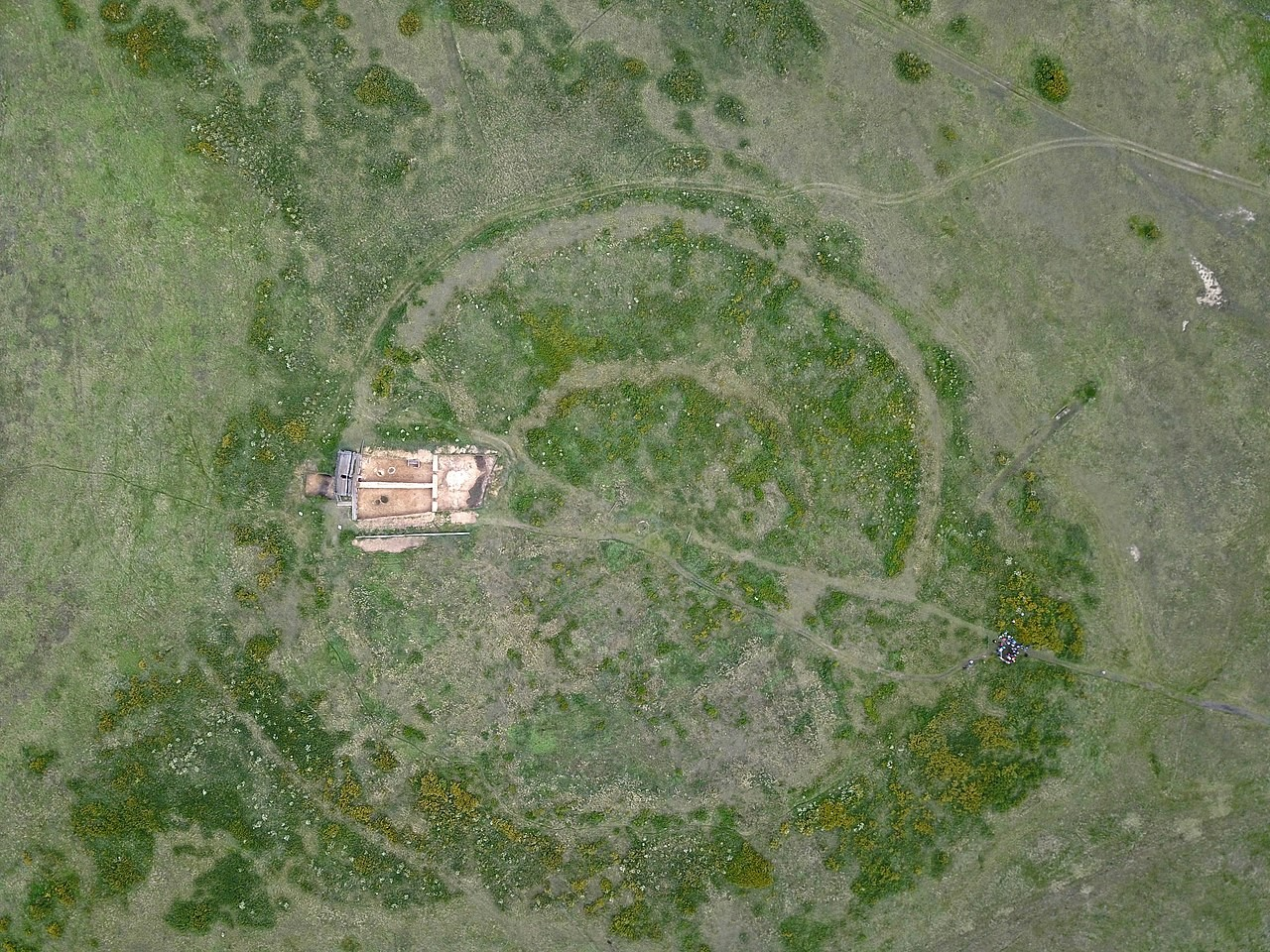 The Arkaim site as seen from above